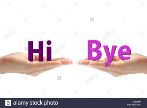hands-with-hi-and-bye-words-isolated-on-white-background-D0BGM7