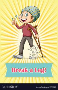idiom-break-a-leg-vector-5736653